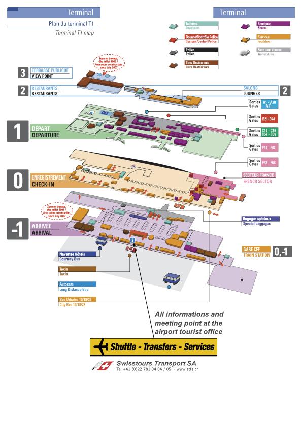 plan aéroport / map aiport