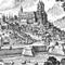 gravure de la vieille-ville/old town